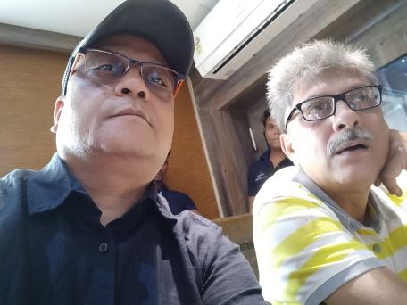 Soni & I at the restaurant