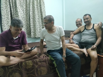 A candid moment after Ronju had done Chotipeta of Soni