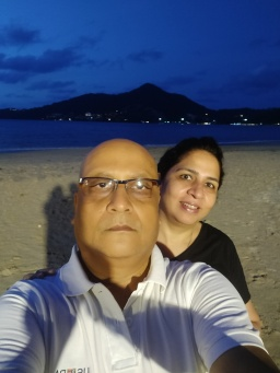 The first selfie at the Novotel's Kamala Beach