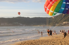 The Parasailing in progress